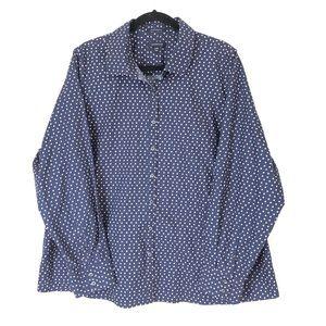 Lands End Plus SZ 24W Supima Cotton No Iron Shirt